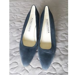 Donald J. Pliner Shoes - Donald J. Pliner Blue Suede Heel Size 7.5